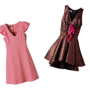 Clothing, Dress, Pink, Day dress, Pattern, Cocktail dress, Formal wear, Pattern, Design, Textile,