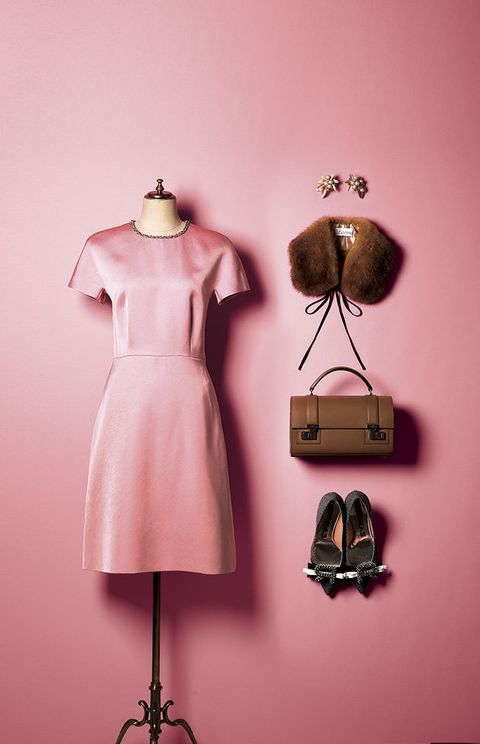 Pink, Clothing, Clothes hanger, Mannequin, Dress, Fashion, Illustration, Fashion design, Footwear, Cocktail dress,