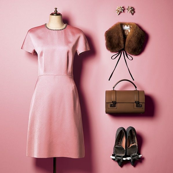 Clothing, Pink, Clothes hanger, Dress, Brown, Fashion, Day dress, Sleeve, Cocktail dress, Outerwear,
