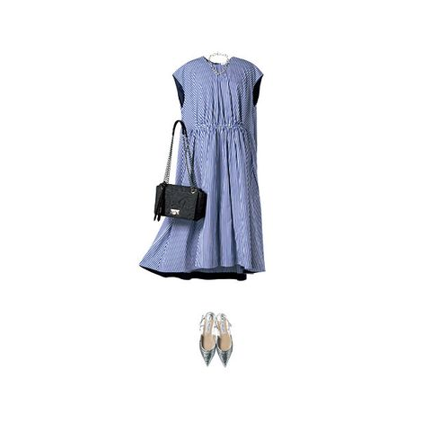 Clothing, Dress, Day dress, Footwear, Outerwear, Cocktail dress, Beige, Sleeve, Sheath dress, Blouse,