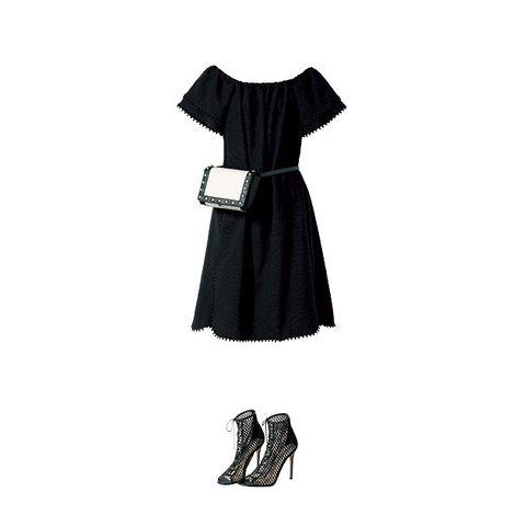 Clothing, Black, Dress, Little black dress, Day dress, Cocktail dress, Footwear, Sleeve, Black-and-white, Robe,
