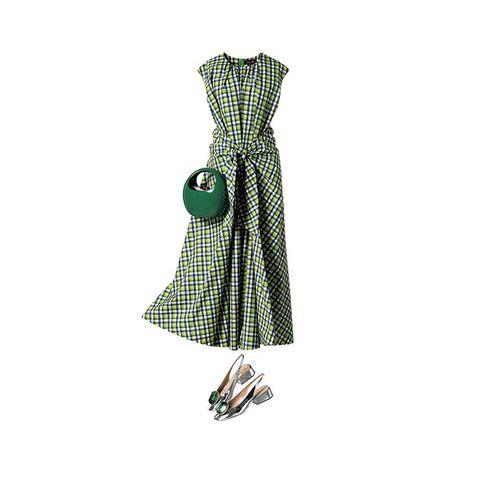 Clothing, Day dress, Green, Dress, Pattern, Pattern, Design, Costume design, Fashion design, Sleeve,