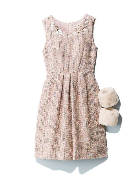 Clothing, Dress, White, Beige, Cocktail dress, Pink, Day dress, Sleeve, Footwear, Outerwear,