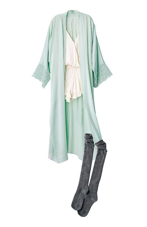 Clothing, White, Green, Outerwear, Turquoise, Sleeve, Costume, Robe, Blouse, Dress,