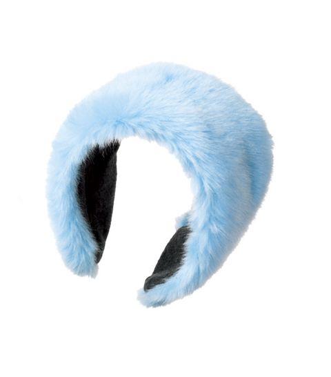 Fur, Blue, Cat toy, Turquoise, Beanie, Ear, Headgear, Textile, Costume accessory, Cap,