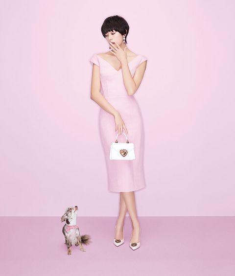 Clothing, Pink, Dress, Fashion model, Shoulder, Illustration, Fashion design, Sheath dress, Cocktail dress, Fawn,