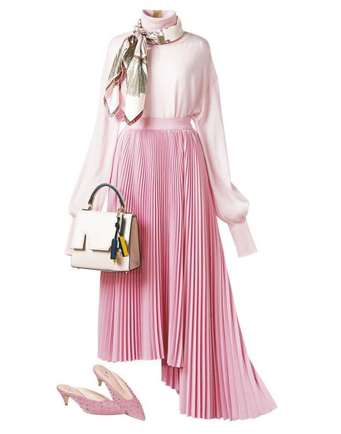 Clothing, Pink, Shoulder, Dress, Fashion, Handbag, Fashion accessory, Bag, Outerwear, Hobo bag,