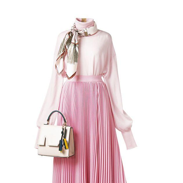 Pink, Clothing, Shoulder, Dress, Handbag, Fashion accessory, Bag, Magenta, Hobo bag,