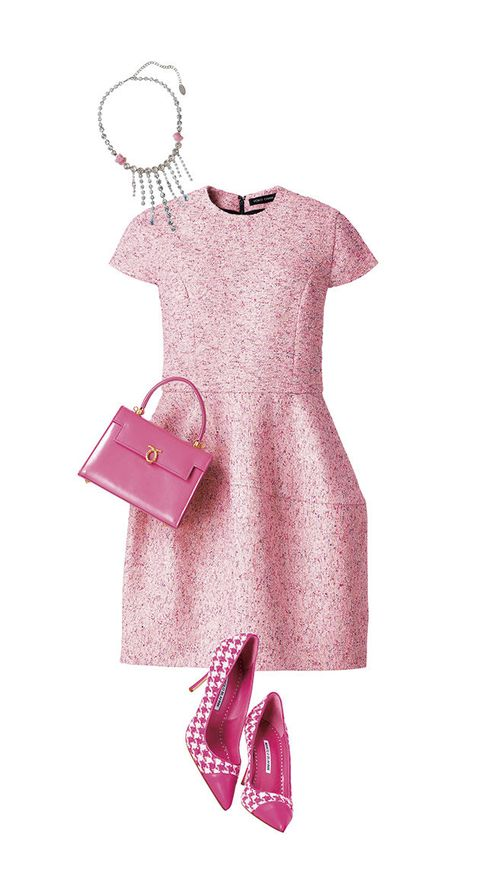 Pink, Clothing, Product, Dress, Magenta, Footwear, Day dress, Sleeve, Neck, Shoe,