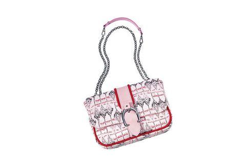 Bag, Handbag, White, Shoulder bag, Red, Fashion accessory, Pattern, Design, Pattern, Material property,