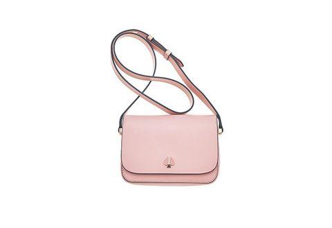 Bag, Handbag, Shoulder bag, Pink, Fashion accessory, Leather, Beige, Satchel, Peach, Material property,