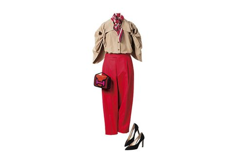 Clothing, Pink, Fashion, Footwear, Outerwear, Trousers, Sleeve, Coat, Beige, Trench coat,