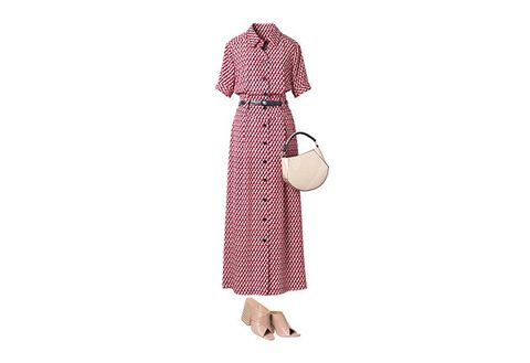 Clothing, Pink, Dress, Sleeve, Beige, Textile, Peach, Pattern, Pattern, Polka dot,