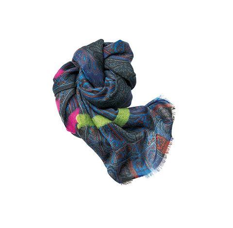 Tartan, Wool, Blue, Scarf, Turquoise, Pattern, Stole, Orange, Plaid, Textile,