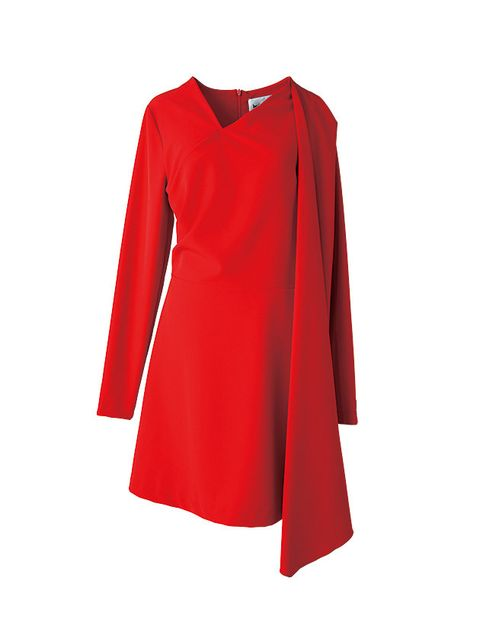 Clothing, Red, Sleeve, Neck, Dress, Outerwear, Blouse, A-line, T-shirt, Collar,
