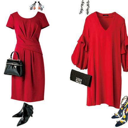 Clothing, Red, Dress, Day dress, Pink, Sleeve, Shoulder, Joint, Neck, Footwear,