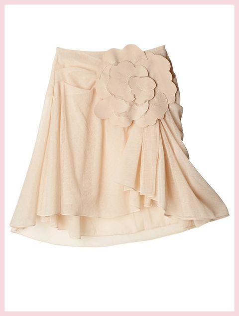 Peach, Beige, Khaki, Ivory, Embellishment, Ruffle, Linens, Day dress, Costume design, One-piece garment,
