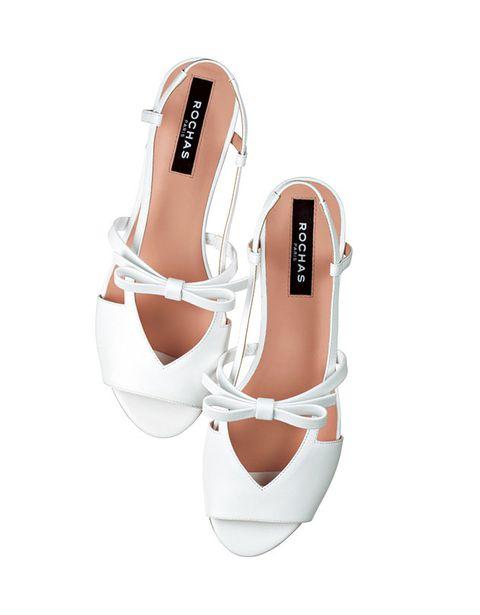 Footwear, White, Shoe, Slingback, Product, Mary jane, Sandal, Beige, Leg, High heels,