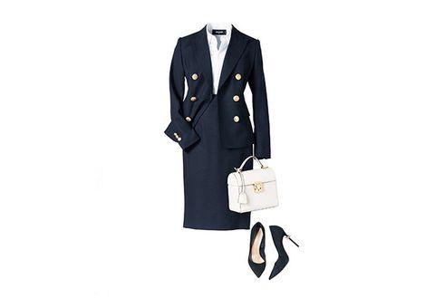 Clothing, White, Outerwear, Suit, Formal wear, Footwear, Blazer, Fashion, Coat, Jacket,