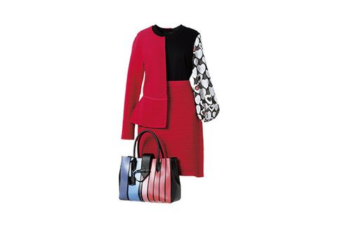 Collar, Sleeve, Textile, Bag, Red, Style, Coat, Blazer, Pattern, Luggage and bags,