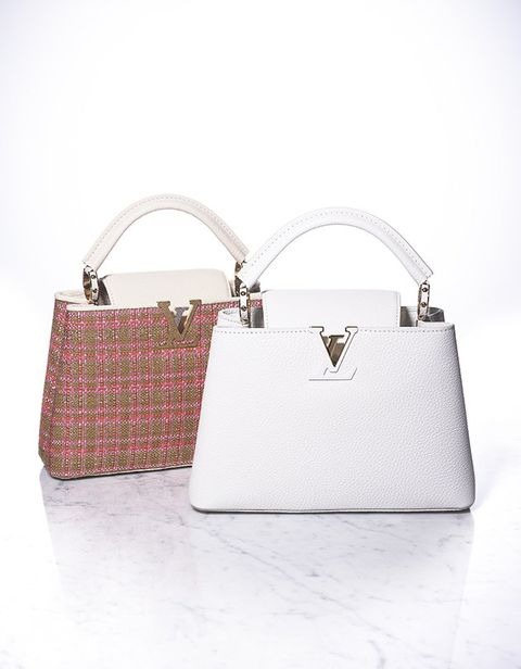 Handbag, Bag, White, Fashion accessory, Leather, Shoulder bag, Pink, Beige, Design, Material property,