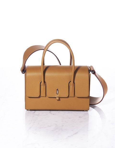Handbag, Bag, Fashion accessory, Tan, Leather, Brown, Beige, Shoulder bag, Satchel, Material property,