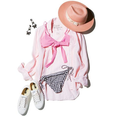 White, Pink, Clothing, Product, Sun hat, Footwear, Design, Outerwear, Hat, Sleeve,