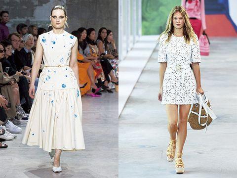 Fashion model, Fashion, Clothing, Runway, Street fashion, Fashion show, Dress, Footwear, Shoulder, Haute couture,