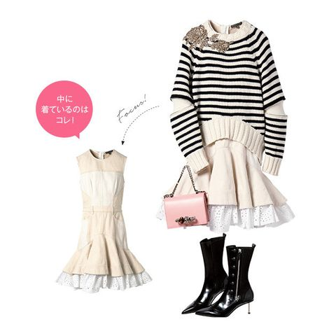 Clothing, White, Pink, Footwear, Fashion, Dress, Outerwear, Beige, Sleeve, Neck,