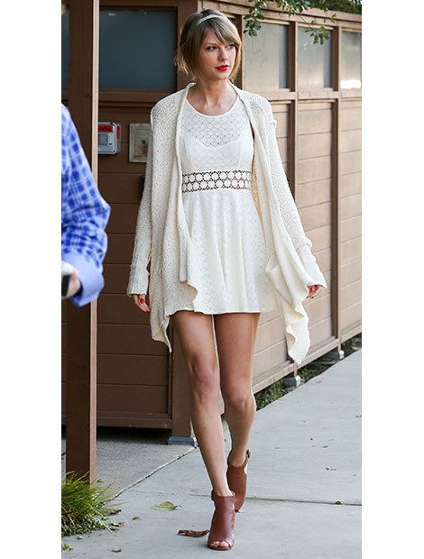 Clothing, Leg, Sleeve, Shoulder, Human leg, Dress, Joint, White, Style, Street fashion,