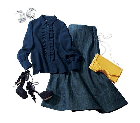 Clothing, Blue, Sleeve, Yellow, Outerwear, Fashion, Footwear, Overcoat, Dress, Electric blue,