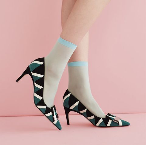 Footwear, High heels, Leg, Shoe, Pink, Human leg, Joint, Ankle, Calf, Knee,