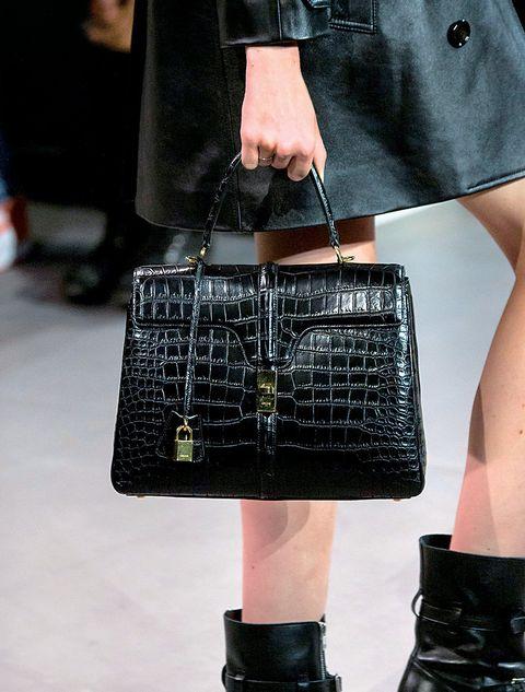 Fashion, Handbag, Bag, Street fashion, Fashion accessory, Leather, Runway, Footwear, Design, Material property,