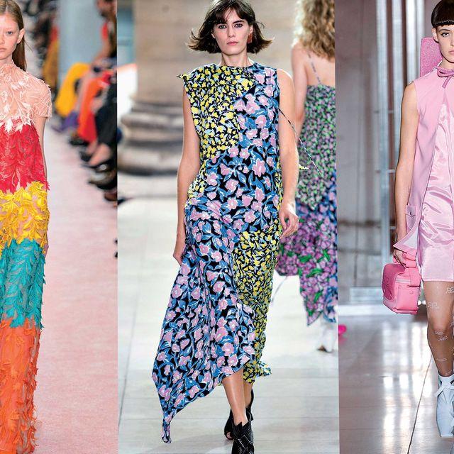 Fashion model, Fashion, Clothing, Runway, Dress, Fashion show, Haute couture, Summer, Shoulder, Spring,