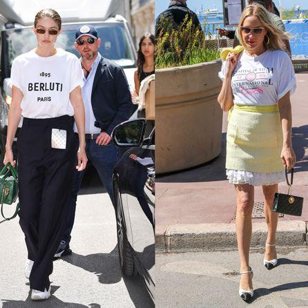 Street fashion, Clothing, Fashion, Snapshot, Footwear, Blond, T-shirt, Leg, Walking, Shoe,