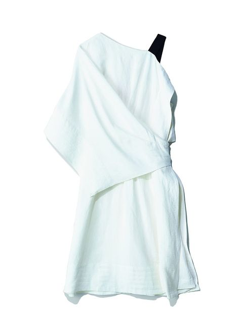 White, Clothing, Turquoise, Dress, Shoulder, Sleeve, Robe, Textile, Outerwear, Blouse,