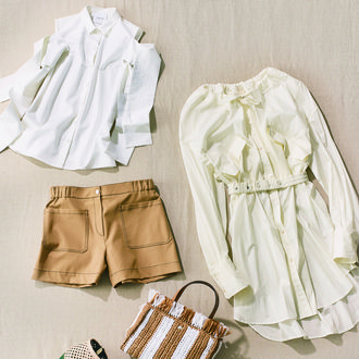 White, Clothing, Product, Clothes hanger, Dress, Blouse, Beige, Outerwear, Textile, Sleeve,