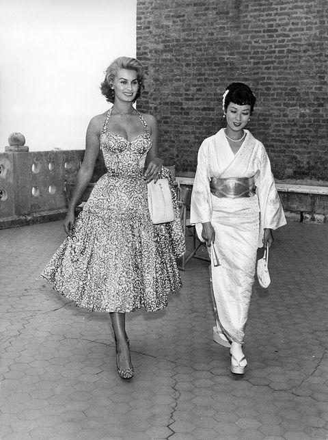 Photograph, White, Standing, People, Clothing, Retro style, Dress, Vintage clothing, Fashion, Snapshot,