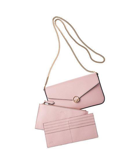 Bag, Handbag, Pink, Fashion accessory, Beige, Shoulder bag, Material property, Leather, Peach, Kelly bag,