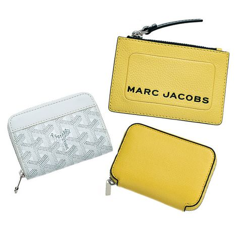Wallet, Coin purse, Yellow, Rectangle, Fashion accessory, Bag, Zipper,