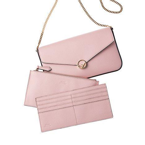 Bag, Pink, Handbag, Leather, Fashion accessory, Beige, Wallet, Shoulder bag, Material property, Peach,