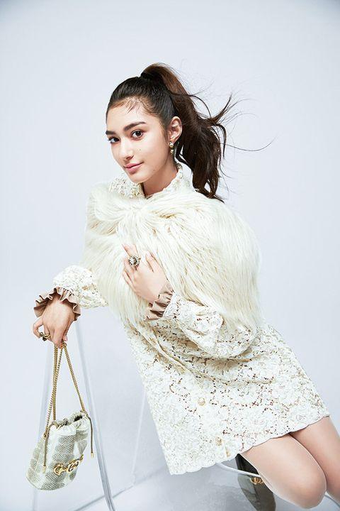 Fashion model, White, Clothing, Shoulder, Skin, Beauty, Fashion, Photo shoot, Hairstyle, Dress,