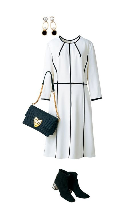 White, Clothing, Black, Product, Shoulder, Footwear, Fashion, Black-and-white, Joint, Design,