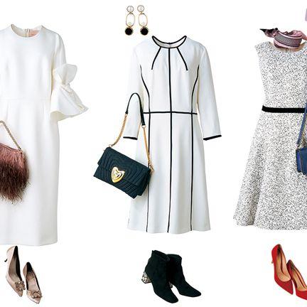 White, Clothing, Fashion, Footwear, Dress, Outerwear, Shoe, Day dress, Fashion design, Sleeve,