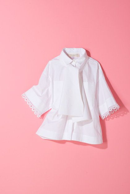 White, Clothing, Pink, Collar, Sleeve, Product, Outerwear, Blouse, Shirt, Top,