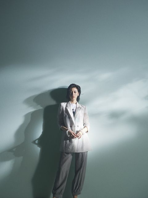 White, Photograph, Suit, Standing, Formal wear, Snapshot, Fashion, Photography, Outerwear, Fashion design,