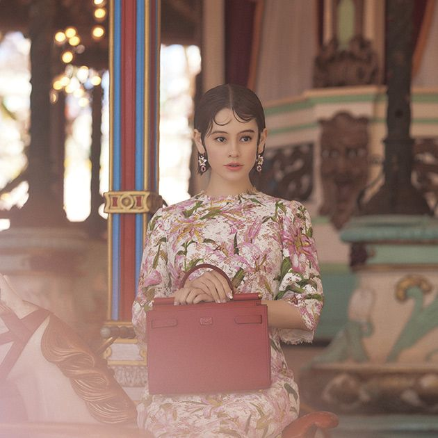 Fashion, Pink, Beauty, Hairstyle, Dress, Shoulder, Fashion design, Sitting, Textile, Photography,