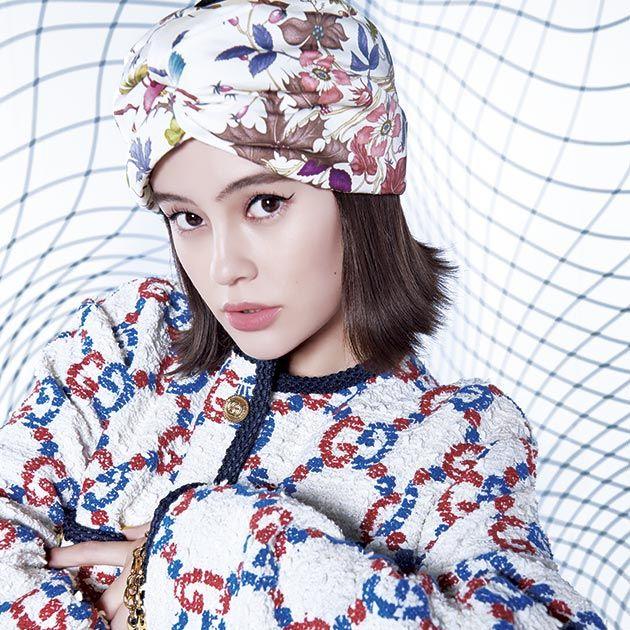 Clothing, Beanie, Beauty, Lip, Headgear, Knit cap, Cap, Fashion accessory, Textile, Neck,