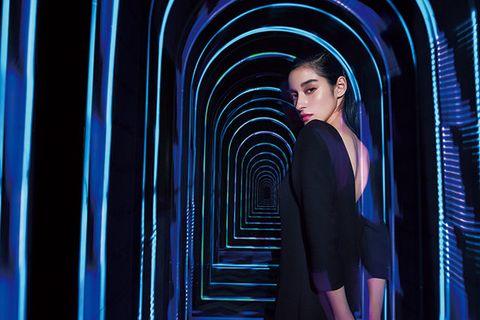 Blue, Cobalt blue, Electric blue, Light, Fashion, Beauty, Architecture, Photography, Model, Fashion design,