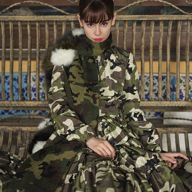 Military camouflage, Clothing, Pattern, Camouflage, Fashion, Fur, Coat, Military uniform, Outerwear, Design,